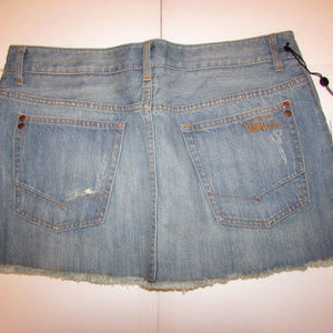NEW-Junior's VANS Denim Cutoff Skirt Sz 11